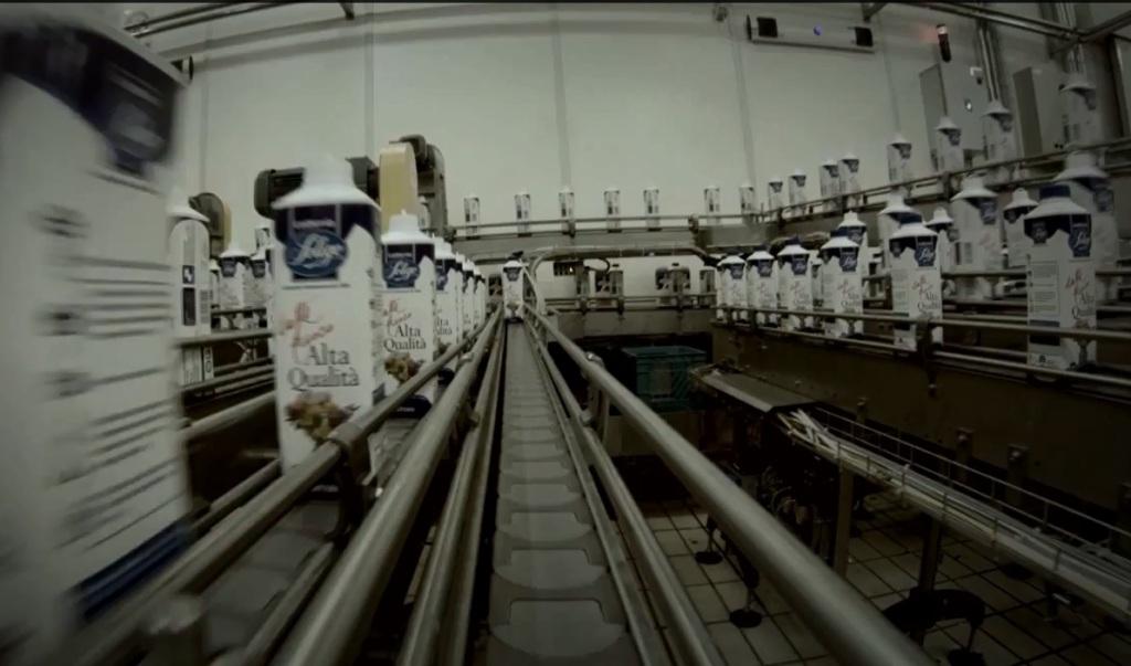 latte linea produzione